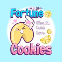 cute fortune cookies vector