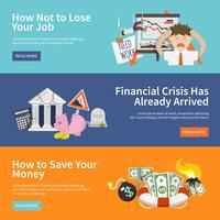 Bannières de crise économique
