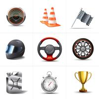 Conjunto de ícones de corrida