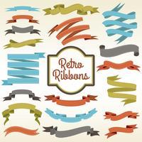 Cartaz de composição de cortes de fitas retrô