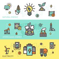 Energy Banner Set vector