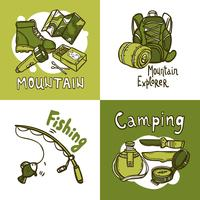 Concept de design de camping