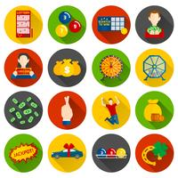 Lottery Icon Flat vector