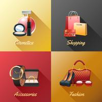 Kvinnor Shopping Design Concept