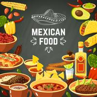 Mexicaans eten illustratie