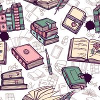 Boeken Naadloos Patroon
