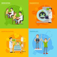 Hospital Treatment Concept vector