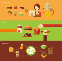 Set di banner fast food