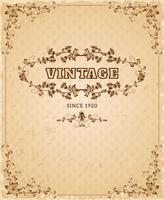 Affiche vintage ornée