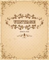 Ornate retro vintage poster