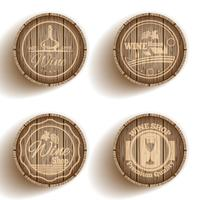 Wine Label Cask vector