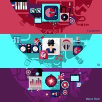 Ensemble de bannières horizontales pour DJ