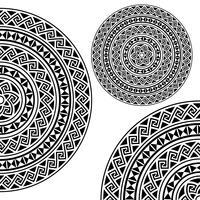Monochromatic ethnic textures. vector