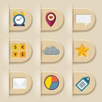 Social media ribbon elements