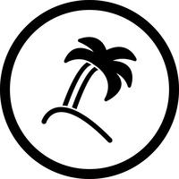 Icône de palmier de vecteur