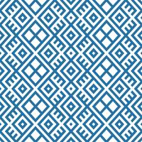 Geometric ethnic pattern background in blue and white colors vector