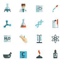 Chemie-Icons flach