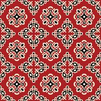Red tribal ethnic seamless pattern vector