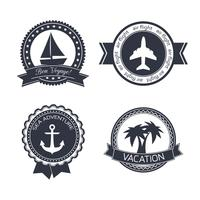 Vacations travel stickers set