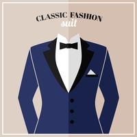 Classic tuxedo suit with bow