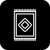 Icona di tappeto vettoriale