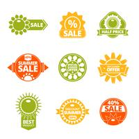Summer discounts labels set vector