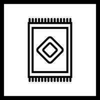 Ícone de tapete de vetor