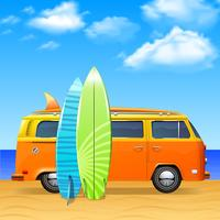 Bus With Surf Boards
