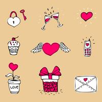 Kärlek ikoner uppsättning