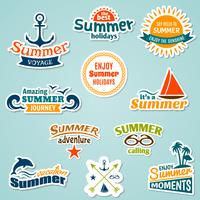 Zomer element sticker