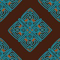 ethnic seamless pattern background in brown and blue colors
