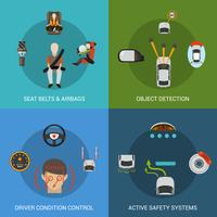 Conjunto de sistema de seguridad del coche