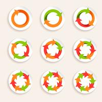 Circle arrow icon vector