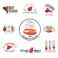 Steak house labels collection