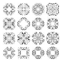 Establecer colecciones de diseños de encaje ornamentales.