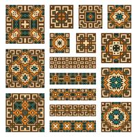 Set collections of geometrical borders and tiles