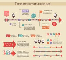 Presentation timeline chart elements vector