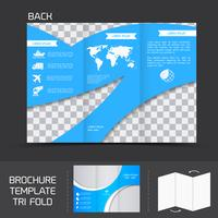 Folleto plantilla tri fold vector