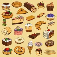 Colección de pastas dulces.