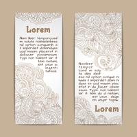 Ornamental banners vertical