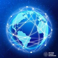 Concept de globe de réseau