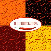 Chilli pepper seamless pattern