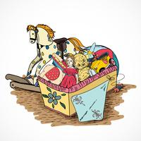 Caja de bocetos de juguetes