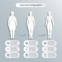 Infographic elements for women fitness