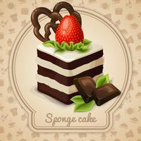 Etiqueta de pastel de esponja