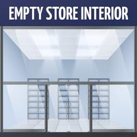 Empty store interior vector