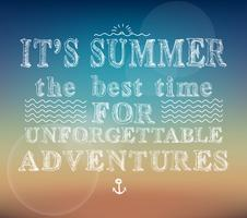 Cartel de aventuras de verano.