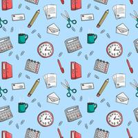 Seamless office stationery pattern background
