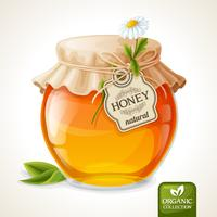 Honey jar glass