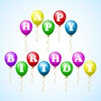Happy birthday celebration balloons